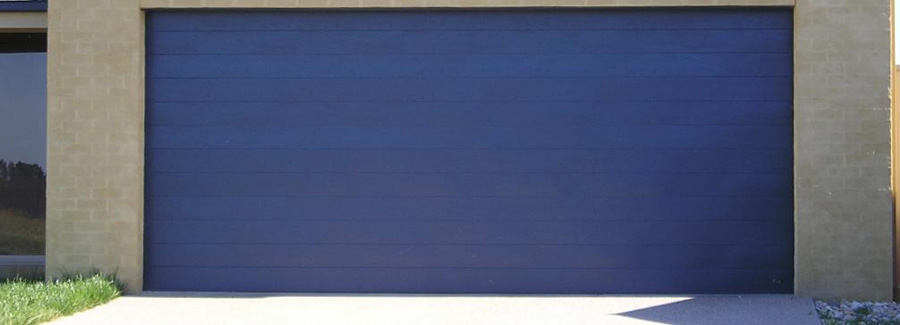 Garage Door Metal Blue